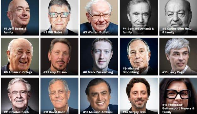 Jeff Bezos, el más rico del mundo con una fortuna de 131.000 millones de dólares