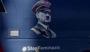 Hazte Oír vuelve a las calles cuestionando la violencia de género con Hitler y el hashtag #StopFeminazis