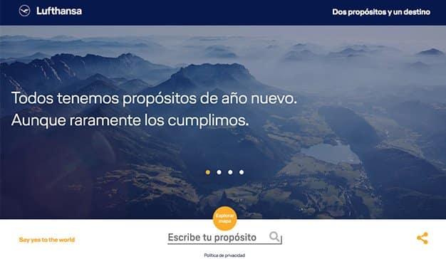 """""""Dos propósitos y un destino"""", la nueva e inspiradora campaña online de Lufthansa"""