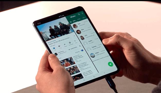 teléfono plegable Samsung