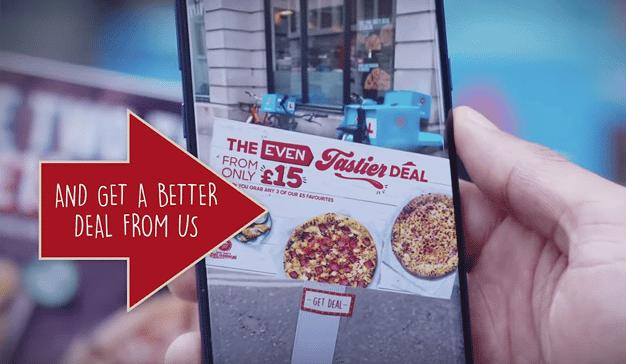La app de realidad aumentada de Pizza Hut que detecta las ofertas de la competencia