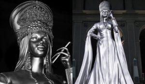 Una impresionante escultura de Cardi B, la nueva estatua del panteón del hip-hop de Spotify