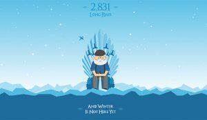 Esta web cuenta los días que George R.R. Martin lleva prometiendo el invierno que todavía no ha llegado