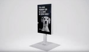 Street Vet, la valla publicitaria que analiza la orina de los perros