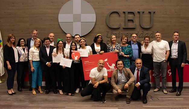 Los alumnos de la Universidad Nebrija de Madrid, ganadores de la III edición de Telepizza Excellence Lab