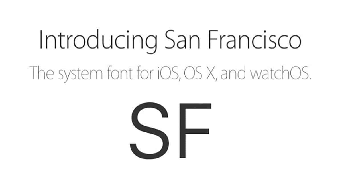 tipografía apple