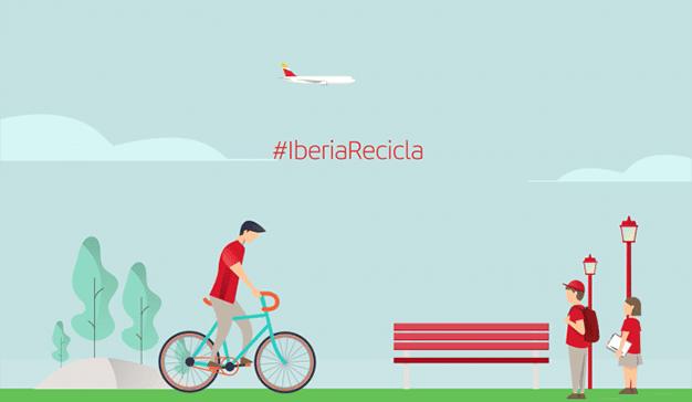 #IberiaRecicla, el compromiso de la aerolínea con el medioambiente