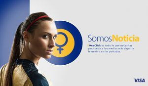 Visa quiere que las mujeres sean portada en los periódicos deportivos