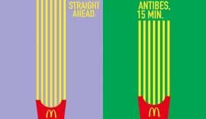 McDonald's utiliza sus famosas patatas fritas para llevarle hasta sus establecimientos