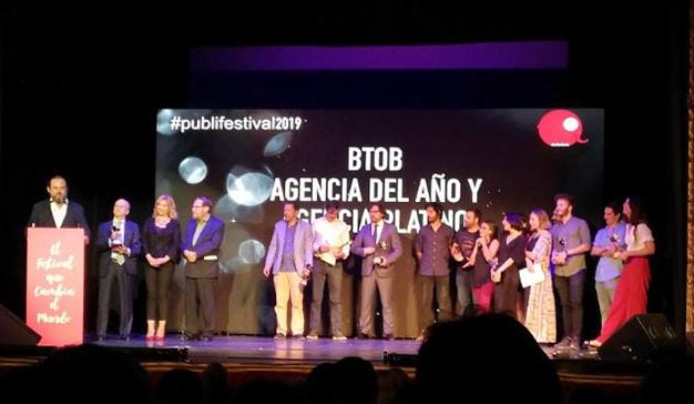 BTOB, agencia del año y agencia platino en el Publifestival 2019