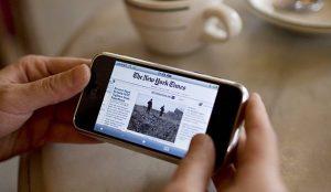 El 68,4% de los internautas accede a los diarios online a través del smartphone