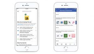 Facebook explica más detalladamente por qué muestra cada anuncio