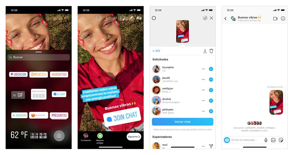 Instagram incorporó el chat sticker para las stories