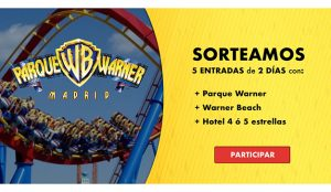 Taquilla.com regala 5 entradas para ir al Parque Warner