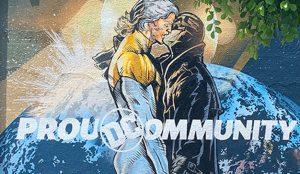 Batman, Wonder Woman y Superman celebran la diversidad en las calles de Estados Unidos