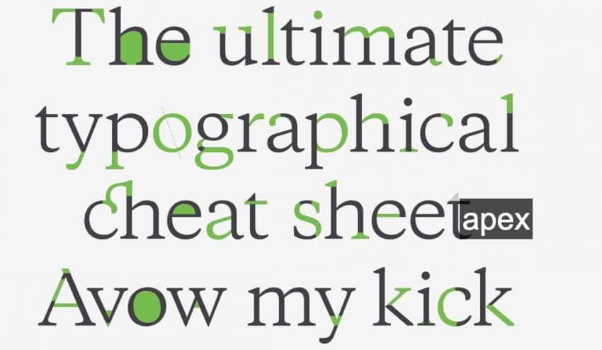 Crean una chuleta para que los diseñadores gráficos no se olviden de cada parte de una tipografía