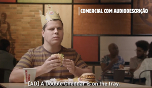 Burger King se acerca al público invidente con una campaña que incluye descripción de audio