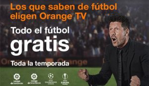Simeone protagoniza la campaña de Orange