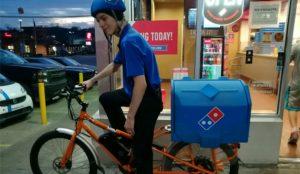 Los pedidos de Domino's Pizza llegarán en bicicleta eléctrica