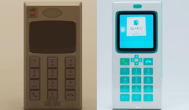 Así sería el iPhone si se hubiera diseñado en los años 80 y 90