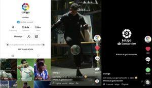 LaLiga y TikTok quieren revolucionar la manera de disfrutar del fútbol