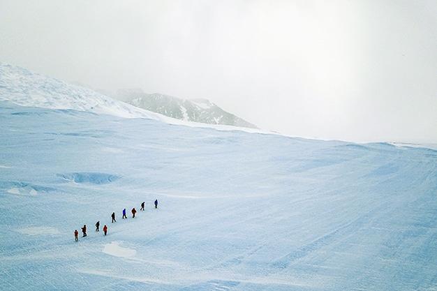 paseo exploración antártida