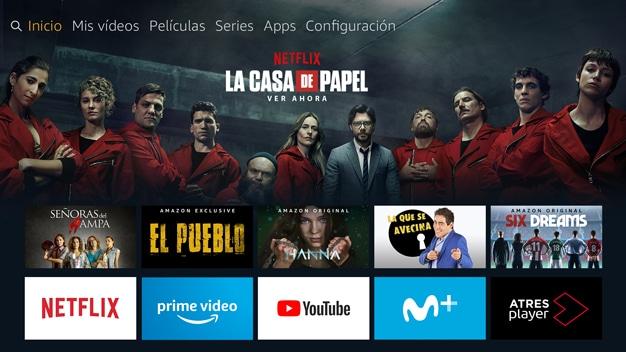 Interfaz Amazon Fire TV