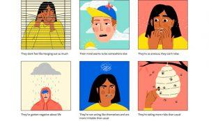 Una campaña enseña cómo hablar con un amigo acerca del suicidio y la salud mental