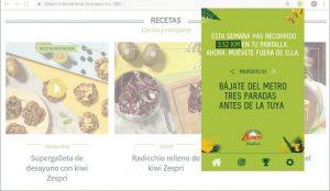 Kiwis Zespri lanza una extensión de navegador para animarte a caminar
