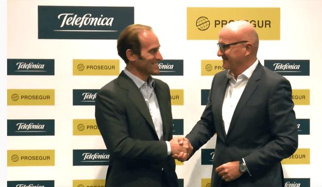 Telefónica adquiere la mitad de participación de Prosegur por 300M de euros