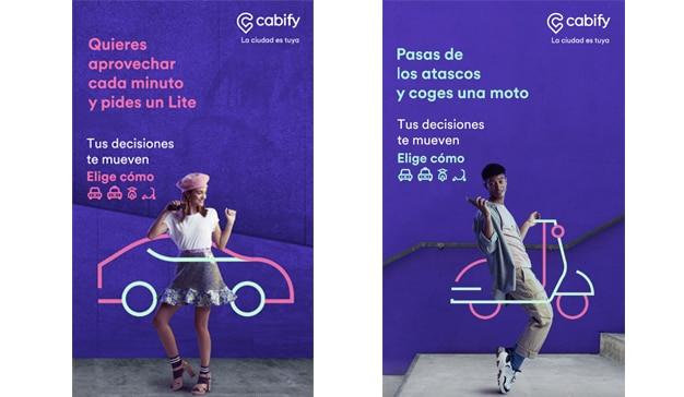 Cabify lanza en España una campaña que integra los servicios de VTC, taxi, motos y patinetes eléctricos