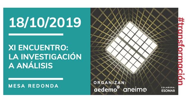 Aneimo y Aedemo celebran el XI encuentro: La Investigación a Análisis
