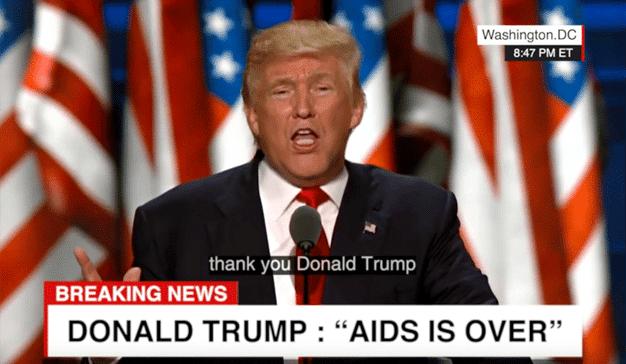 El deepfake de Trump que demanda a los gobiernos un férreo compromiso de erradicar el SIDA