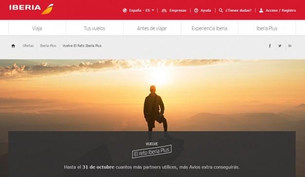Iberia Plus lanza un nuevo Reto a sus clientes