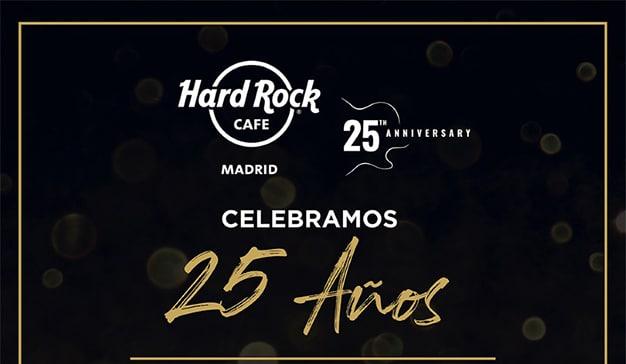 Hard Rock Café Madrid celebra el 25 aniversario con una noche de conciertos