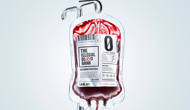Un banco de sangre ilegal (y secreto), protagonista de esta campaña en pro de la comunidad gay