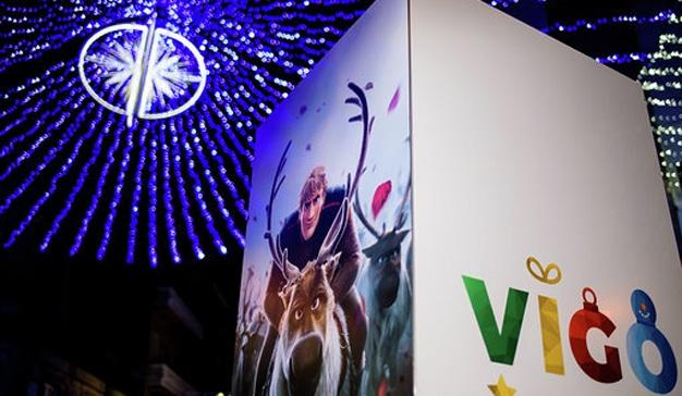 Frozen llega a Vigo para acompañar la decoración de Navidad con los personajes de la película
