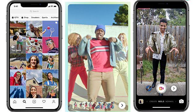 Instagram lanza Reels, su nueva función para crear vídeos musicales