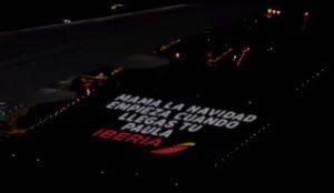 Iberia presenta la felicitación de Navidad más grande del mundo