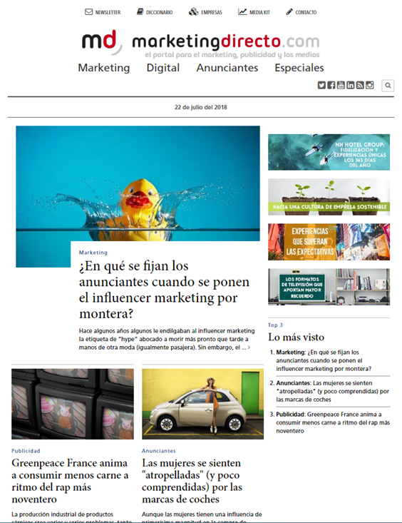 Portal web mkd