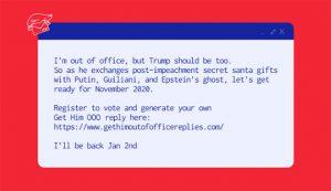 La respuesta automática del correo en vacaciones también quiere a Trump fuera de la oficina