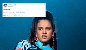 Del 'Fuck VOX' de Rosalía al adoquín de Albert Rivera: los tuits más exitosos de 2019