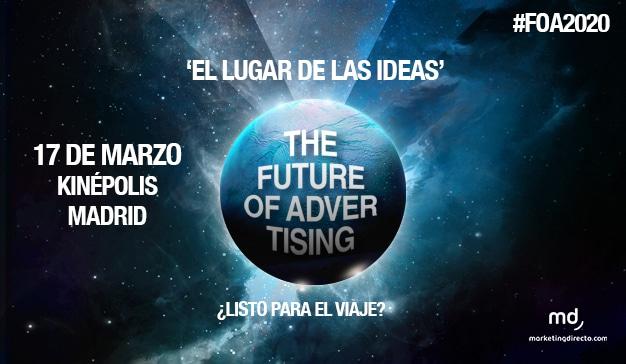 El próximo 17 de marzo viajaremos a #FOA2020, el universo de las ideas y el futuro publicitario