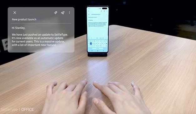 Samsung teclado invisible