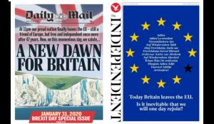 Estas son las portadas de la prensa británica en el día del Brexit