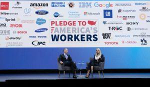 Ivanka Trump se sube al escenario del CES 2020 para hablar de la fuerza laboral de EE.UU.