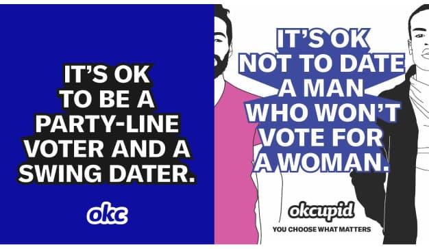 Esta campaña de OkCupid promueve la libertad de escoger lo que realmente importa a la hora de encontrar pareja