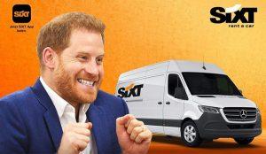 Sixt ofrece a Harry y Meghan una furgoneta (baratísima) para que vayan haciendo la mudanza