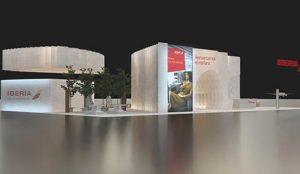 Un stand de papel y la apuesta por la innovación, las propuestas de Iberia este año en Fitur