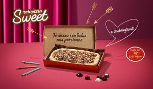 Telepizza y Nestlé CAJA ROJA lanzan #DíseloMuySweet: mensajes personalizados en las cajas de pizza